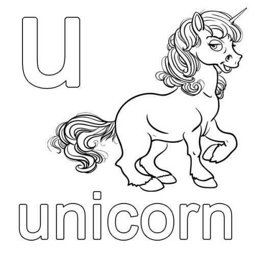 Kostenlose Malvorlage Englisch Lernen Unicorn Zum Ausmalen