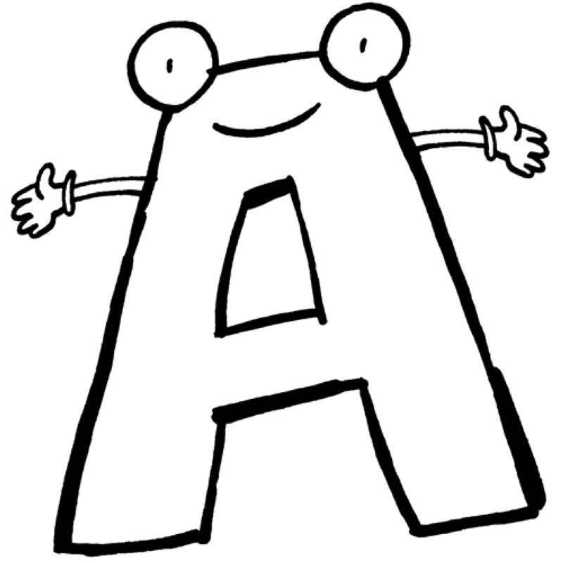 Ausmalbild Buchstaben Lernen Buchstabe A Kostenlos Ausdrucken