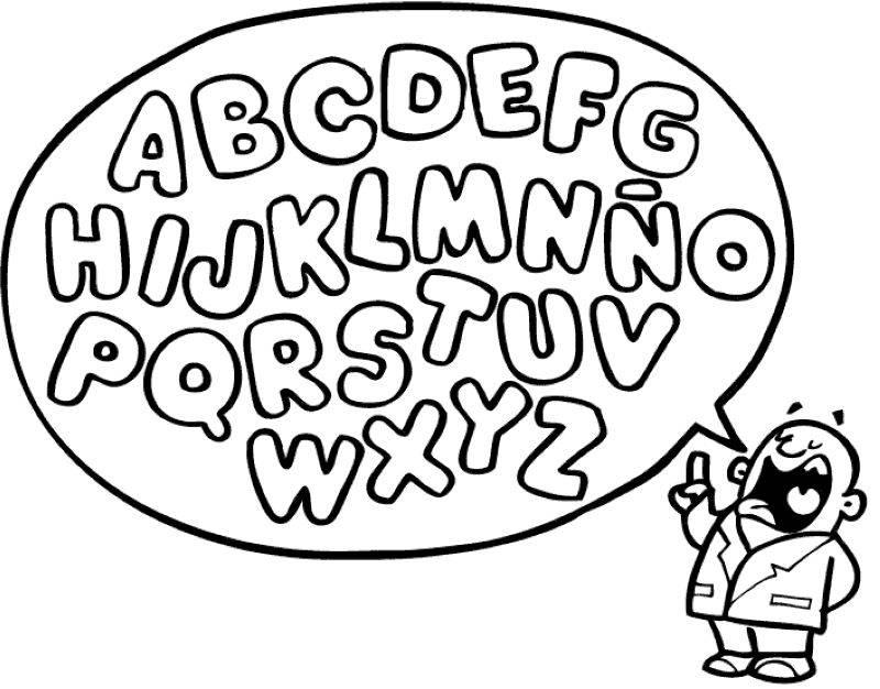 Kostenlose Ausmalbilder und Malvorlagen: Buchstaben lernen zum ...