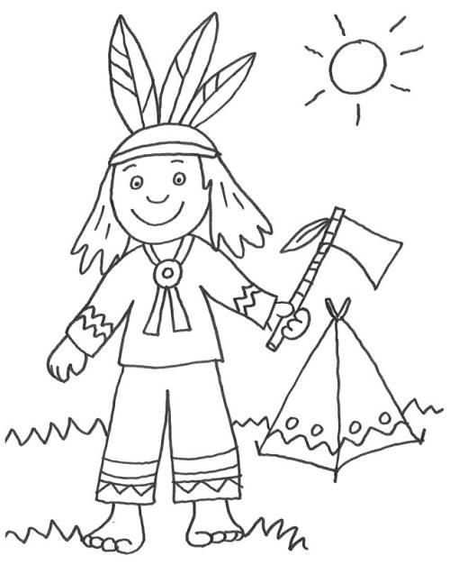 Kostenlose malvorlage cowboys indianer indianer und sein zelt zum cowboys indianer indianer und sein zelt zum ausmalen altavistaventures Images