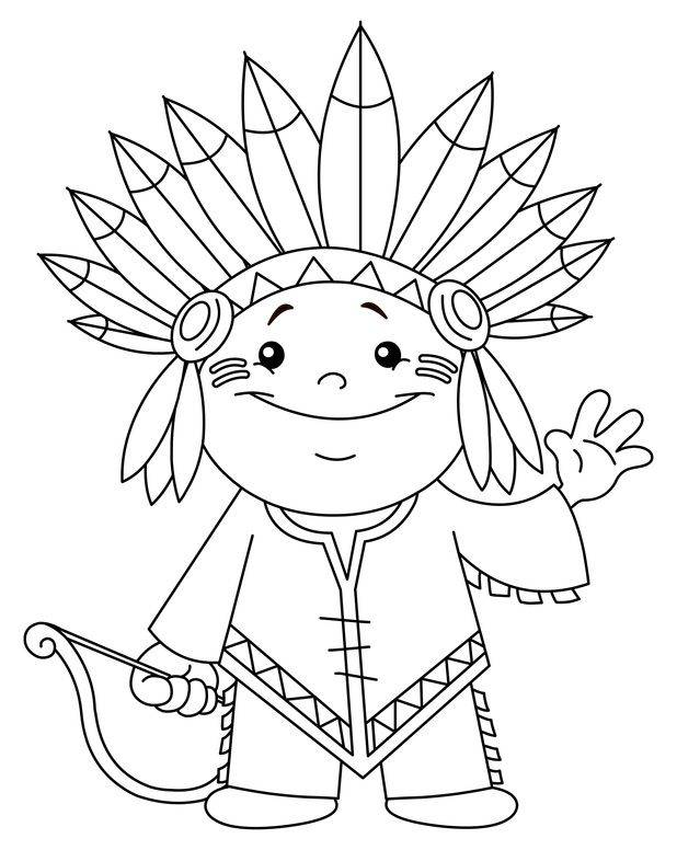 indian drawings coloring pages - photo#7