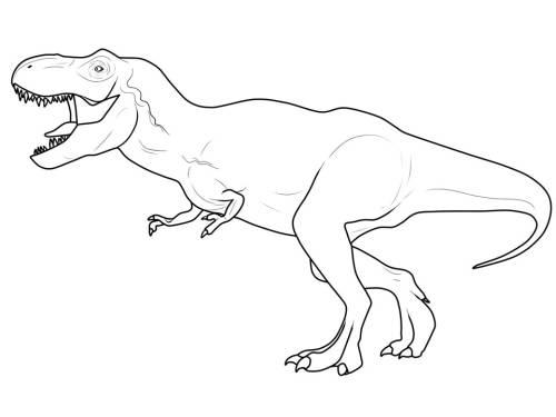 Kostenlose Malvorlage Dinosaurier Und Steinzeit Dinosaurier