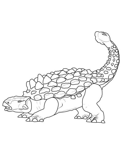 Kostenlose Malvorlage Dinosaurier Und Steinzeit Dinosaurier Ankylosaurus Zum Ausmalen