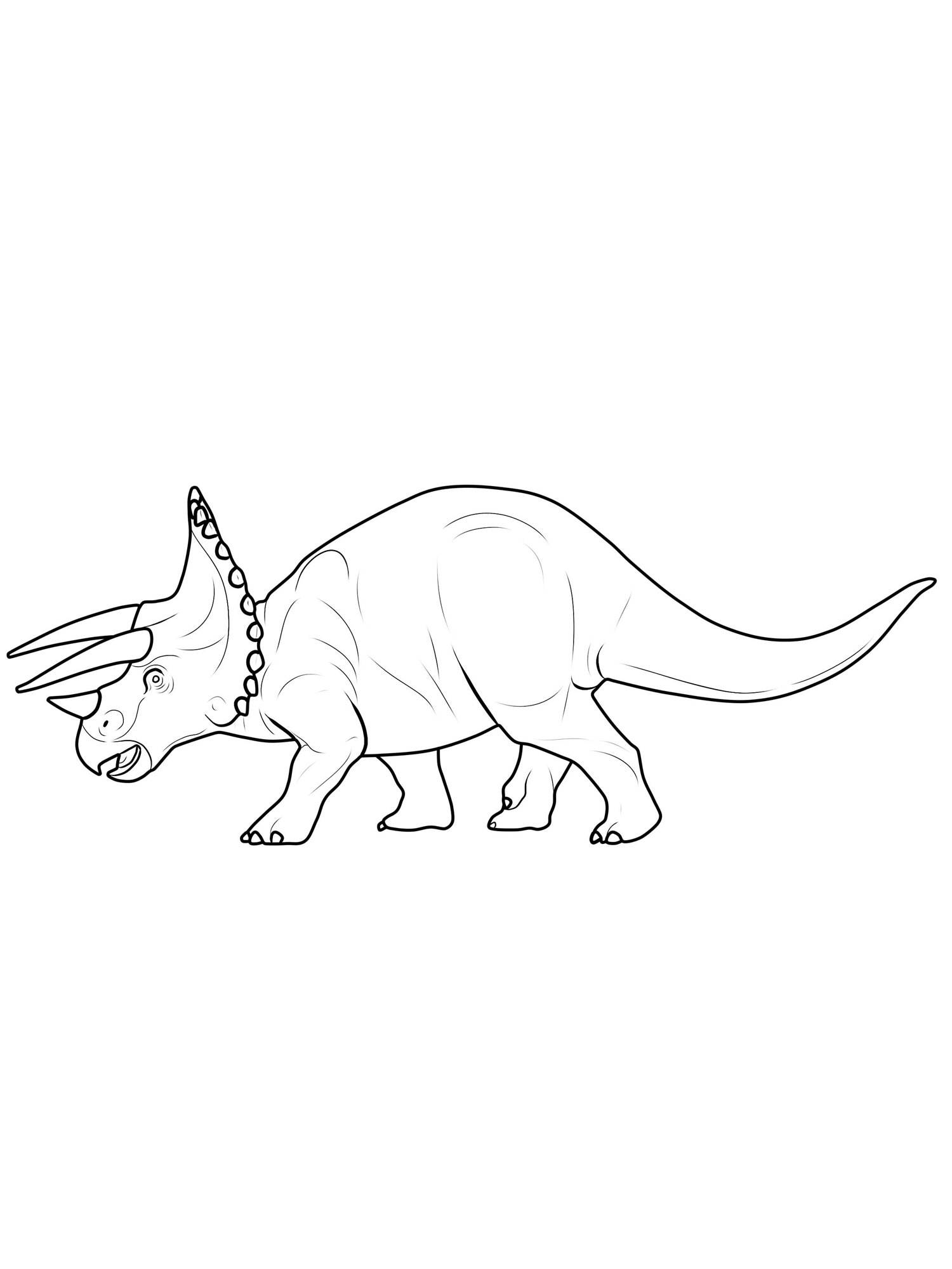 Kostenlose Malvorlage Dinosaurier und Steinzeit: Dinosaurier
