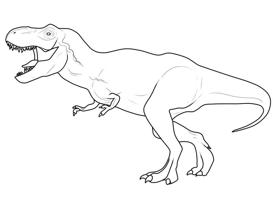 Ausmalbild Dinosaurier Und Steinzeit Dinosaurier Tyrannosaurus Rex