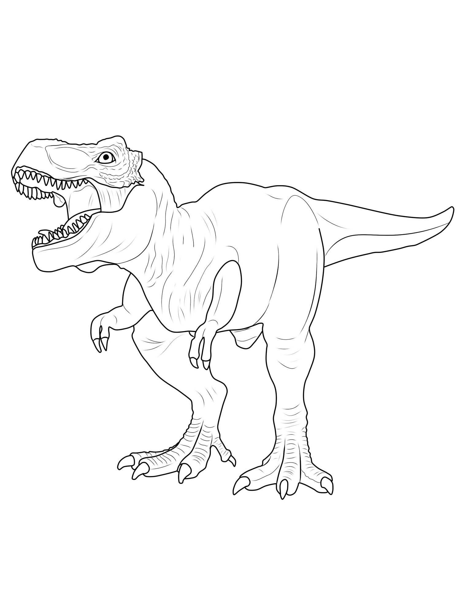 Ausmalbild Dinosaurier und Steinzeit: Dinosaurier ausmalen ...