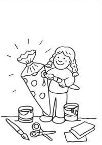 basteln mit kindern - kostenlose bastelvorlage schultüten: wal-schultüte basteln