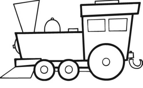 Kostenlose Malvorlage Transportmittel Große Lokomotive Zum Ausmalen