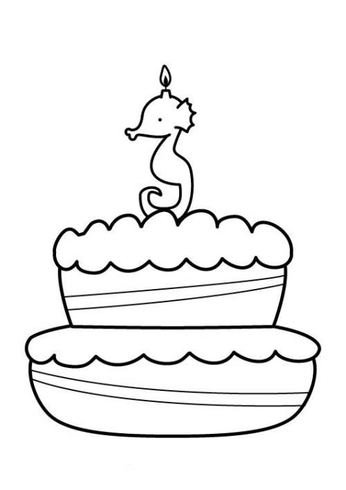 Kostenlose Malvorlage Geburtstag Kuchen Zum Dritten Geburtstag Zum