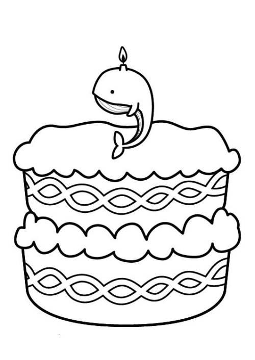 Kostenlose Malvorlage Geburtstag: Kuchen zum neunten Geburtstag zum ...