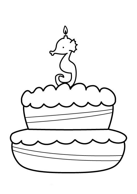 Ausmalbild Geburtstag Kuchen Zum Dritten Geburtstag Kostenlos