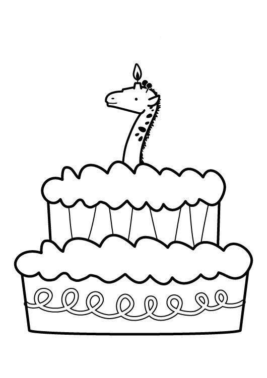 Ausmalbild Geburtstag Kuchen Zum Siebten Geburtstag Kostenlos