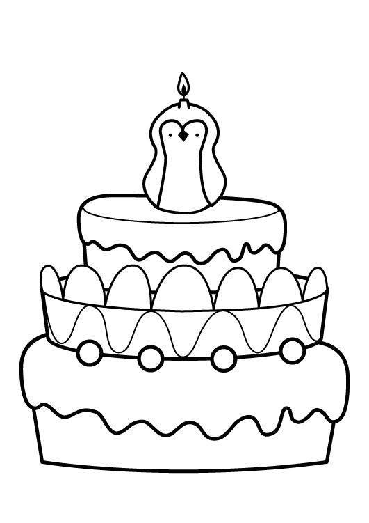 Ausmalbild Geburtstag Kuchen Zum Achten Geburtstag Kostenlos Ausdrucken