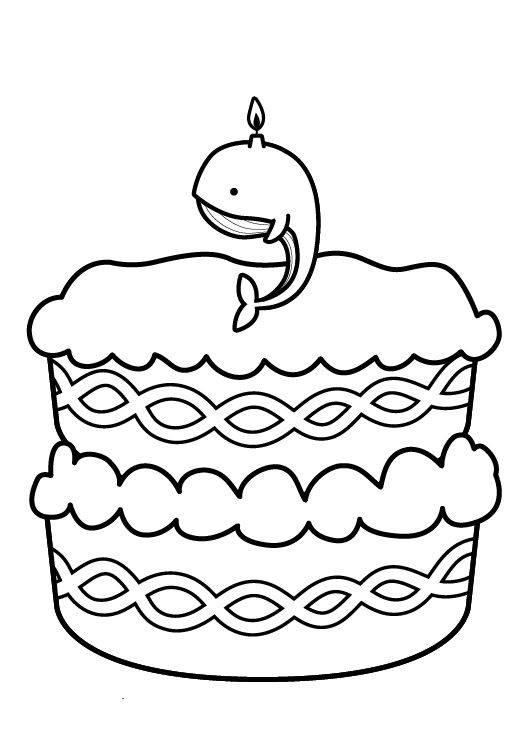 Ausmalbild Geburtstag Kuchen Zum Neunten Geburtstag Kostenlos