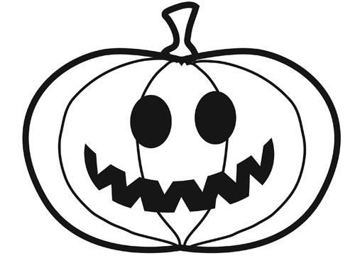 ausmalbild halloween kleiner kürbis kostenlos ausdrucken