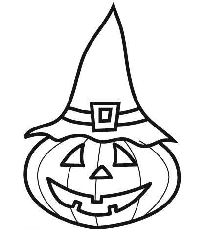Kostenlose Malvorlage Halloween Hexen Kürbis Zum Ausmalen
