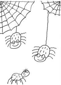 basteln mit kindern - kostenlose bastelvorlage halloween: bastelvorlage halloween-spinne