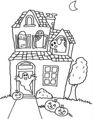 kostenlose malvorlage halloween kostenlose malvorlage gespensterhaus zum ausmalen. Black Bedroom Furniture Sets. Home Design Ideas
