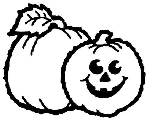 Kostenlose Malvorlage Halloween Kürbisse Zum Ausmalen