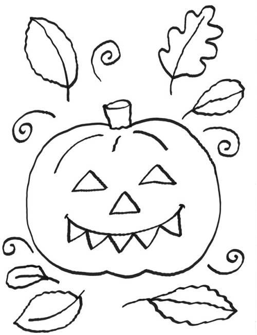 kostenlose malvorlage halloween halloween k252rbis zum ausmalen