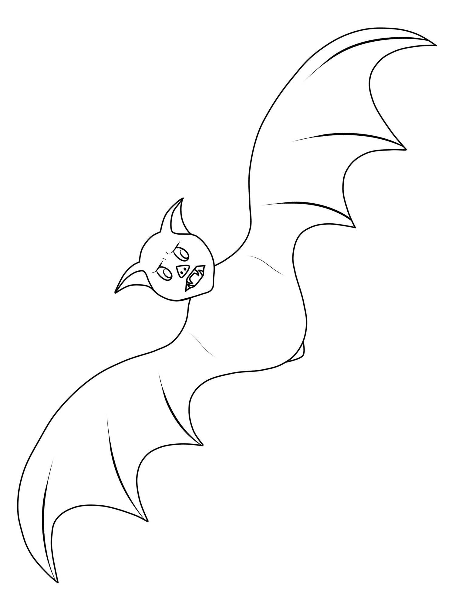 Ausmalbild Halloween Fledermaus Ausmalen Kostenlos Ausdrucken