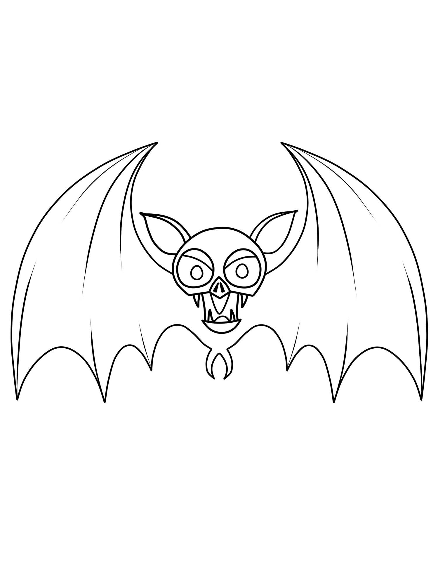 Ausmalbild Halloween: Fledermaus kostenlos ausdrucken