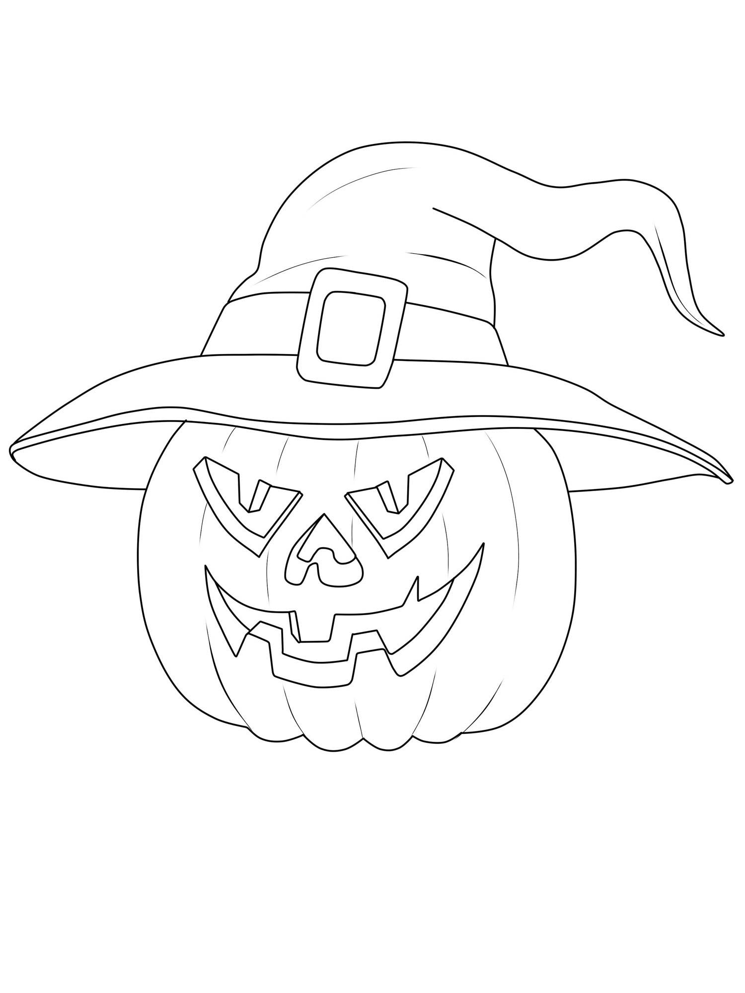 Ausmalbild Halloween Kurbis Hexe Ausmalen Kostenlos Ausdrucken