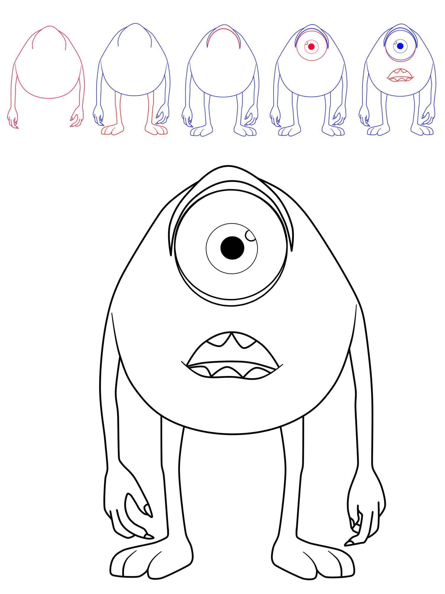ausmalbild halloween wie zeichnet man ein monster