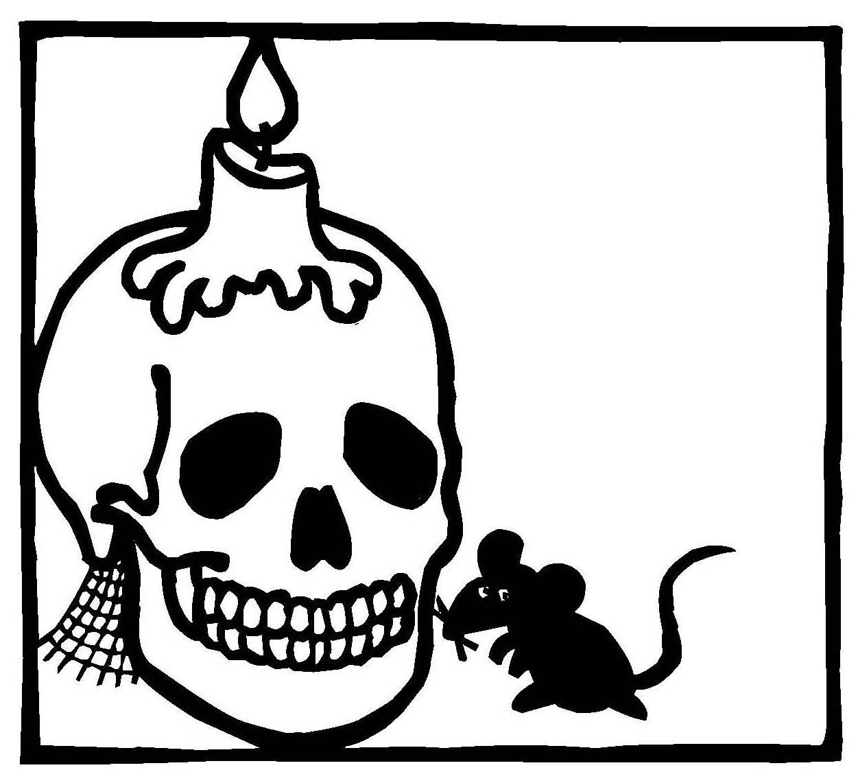 halloween ausmalbilder totenkopf  malvorlagen