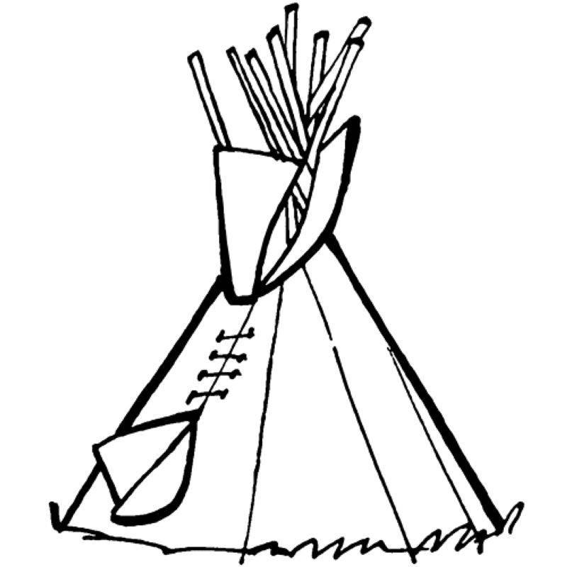 Ausmalbild Cowboys Indianer Tipi Kostenlos Ausdrucken