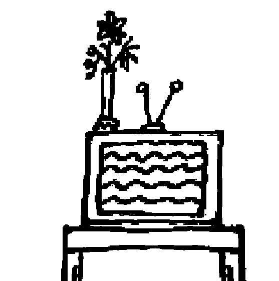 kostenlose malvorlage menschen und ihr zuhause fernseher zum ausmalen. Black Bedroom Furniture Sets. Home Design Ideas