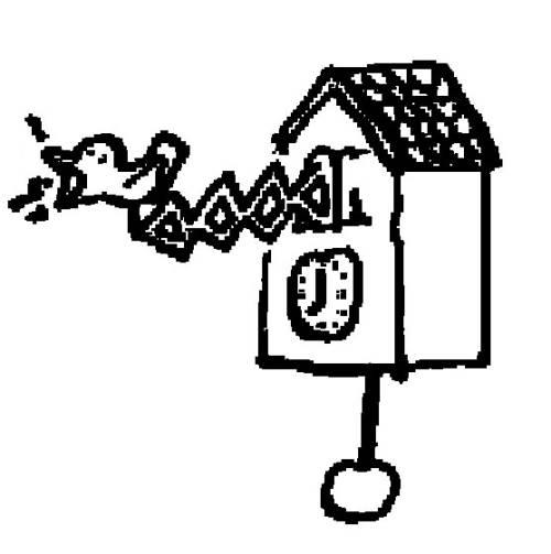 kostenlose malvorlage menschen und ihr zuhause kuckucksuhr zum ausmalen. Black Bedroom Furniture Sets. Home Design Ideas
