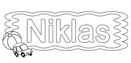 kostenlose malvorlage beliebte jungennamen vorname niklas