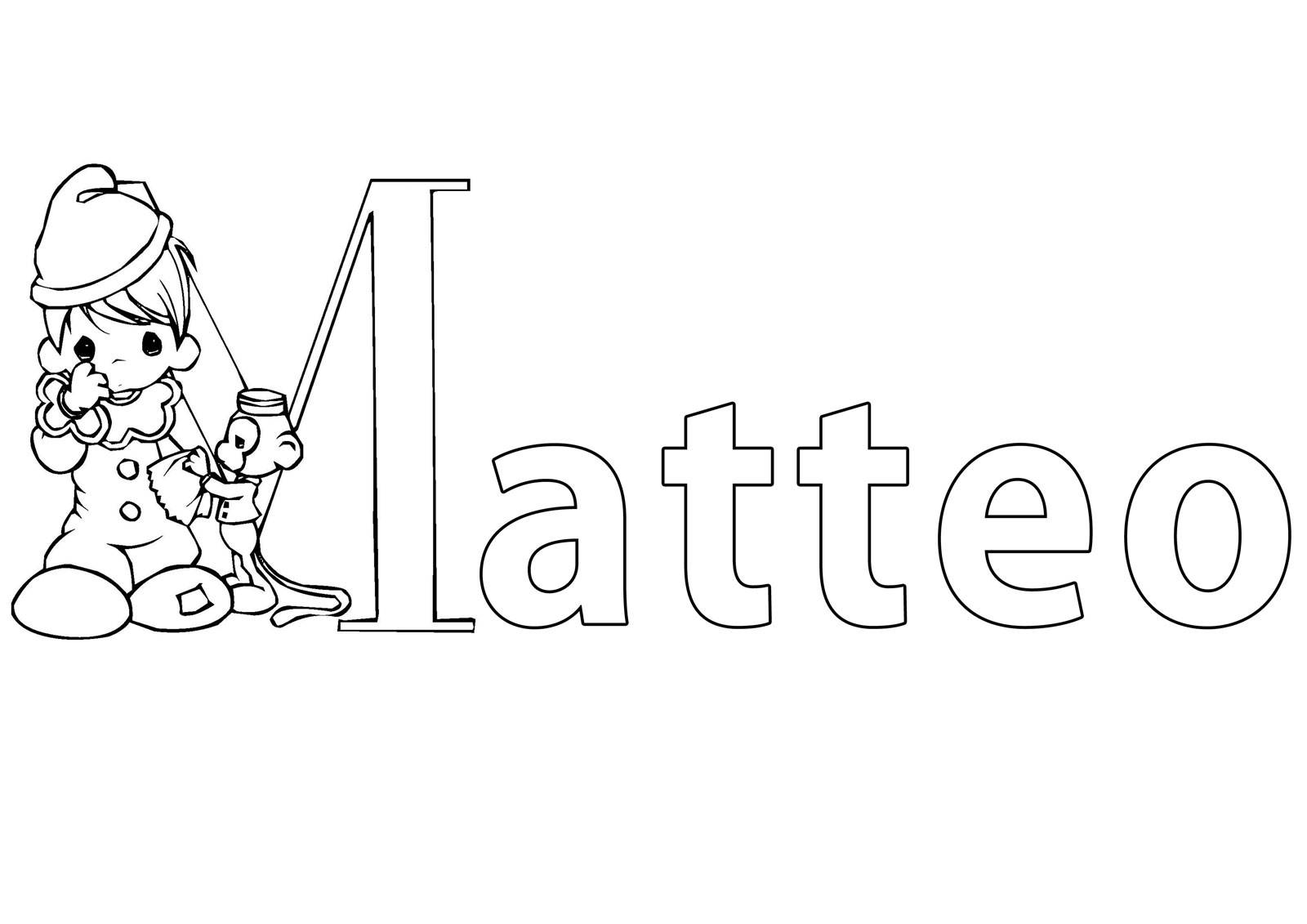 kostenlose malvorlage beliebte jungennamen vorname matteo ausmalen zum ausmalen. Black Bedroom Furniture Sets. Home Design Ideas