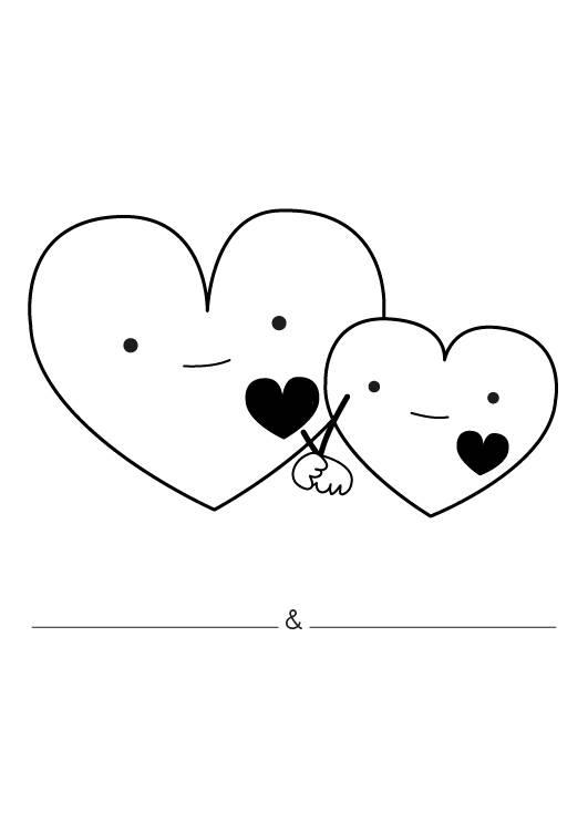 Ausmalbild Hochzeit Und Liebe Liebesherzen Ausmalen Kostenlos