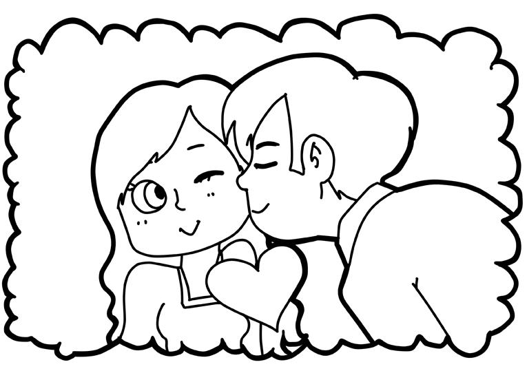 Ausmalbild Hochzeit Und Liebe Herz Geschenk Zum Valentinstag