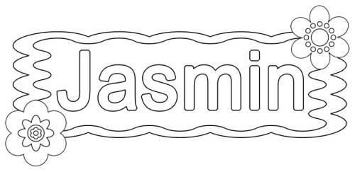 kostenlose malvorlage beliebte mädchennamen jasmin zum