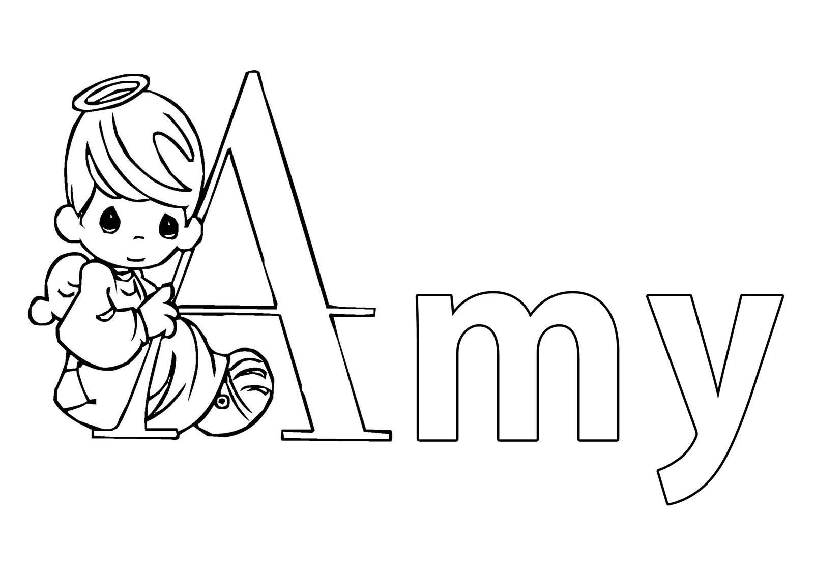 Ausmalbild Beliebte Mädchennamen: Vorname Amy ausmalen kostenlos ...