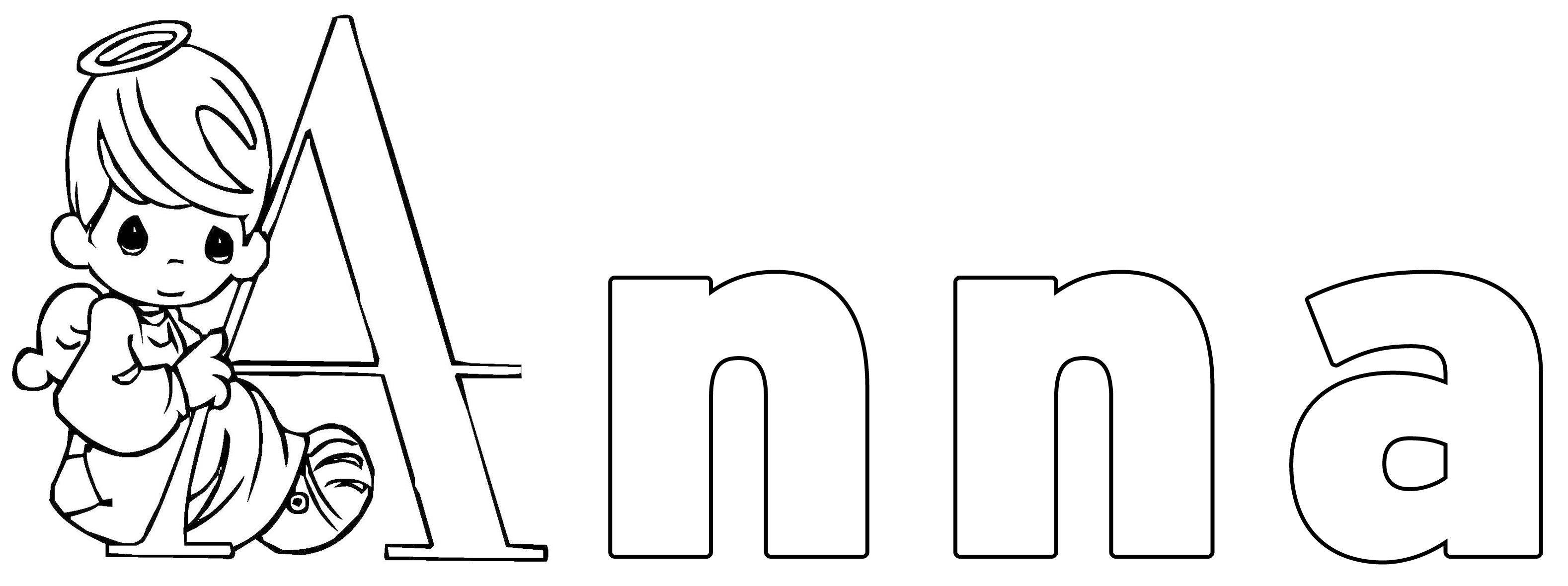 Ausmalbild Beliebte Mädchennamen Anna Kostenlos Ausdrucken