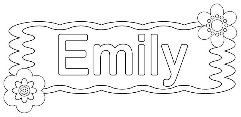 emily coloring pages - photo#4
