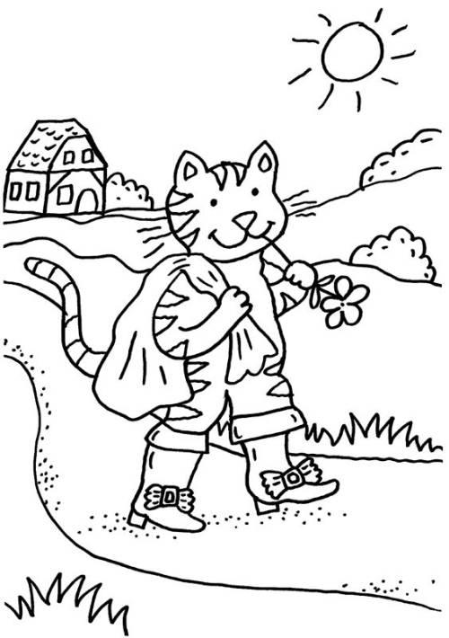 kostenlose malvorlage märchen der gestiefelte kater zum