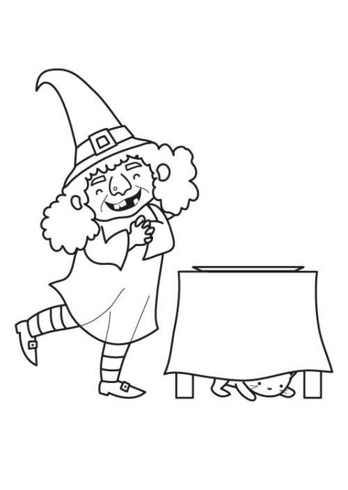 kostenlose malvorlage märchen hexe zum ausmalen zum ausmalen