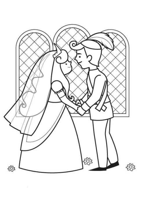 kostenlose malvorlage märchen märchenhochzeit zum