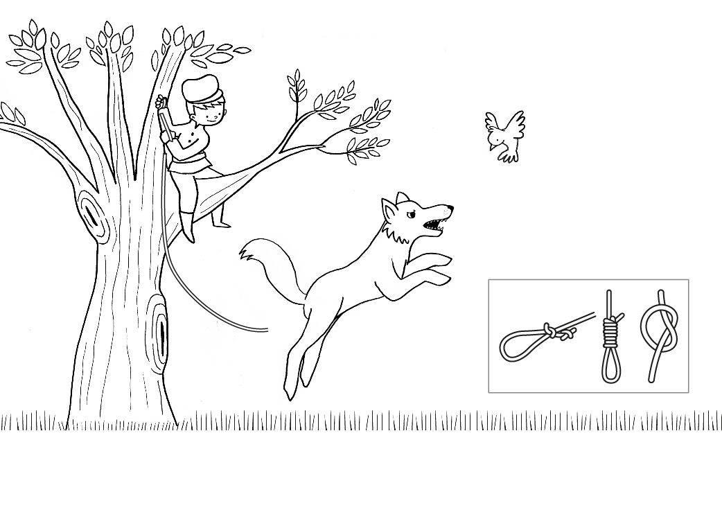 Ausmalbild Märchen Peter Und Der Wolf Zum Ausmalen Kostenlos Ausdrucken