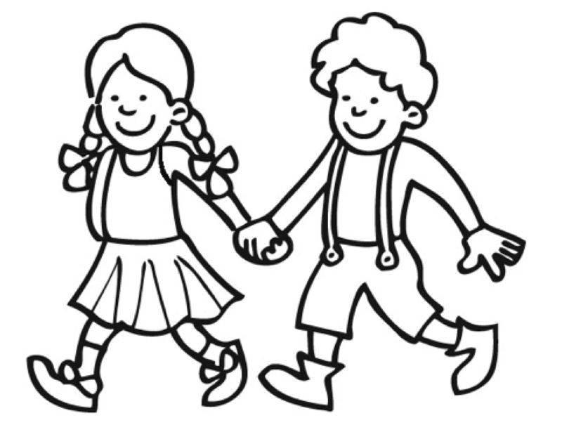 Ausmalbild Märchen: Hänsel und Gretel kostenlos ausdrucken