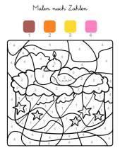 kostenlose malvorlage malen nach zahlen: malen nach zahlen: segelboot zum ausmalen