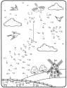 Malen nach Zahlen: Malen nach Zahlen: Drachen steigen lassen zum Ausmalen