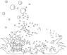 Malen nach Zahlen: Malen nach Zahlen: Elefant mit Seifenblasen zum Ausmalen