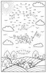 Malen nach Zahlen: Malen nach Zahlen: Kinder im Fesselballon zum Ausmalen