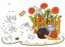 Malen nach Zahlen: Malen nach Zahlen: Gartenzwerg und Mohnblumen zum Ausmalen